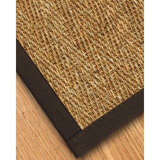 Handcrafted Everest Natural Seagrass Rug Fudge Binding (2' x 3')