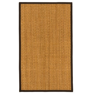 """Natural Area Rugs Handcrafted Alps Natural Seagrass Runner Rug Fudge Binding (2'6"""" x 8')"""