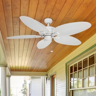 Link to Honeywell Duvall Tropical Ceiling Fan, Five Wet Rated Wicker Blades, Indoor/Outdoor, White - 52-Inch Similar Items in Ceiling Fans