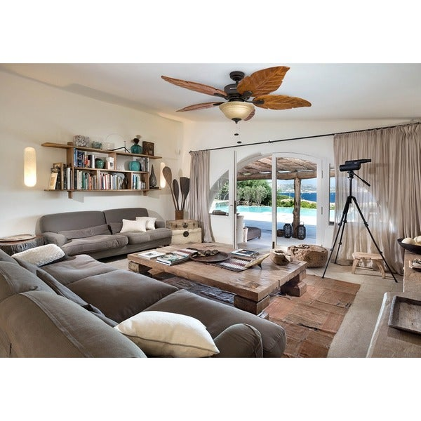 Wood ceiling fan indoor with light 3 speed 5 blades tropical palm ceiling fan indoor with light wood 3 speed 5 blades tropical palm leaf design aloadofball Choice Image
