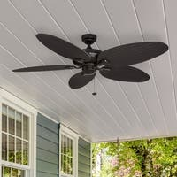 "52"" Honeywell Duval Bronze Indoor/Outdoor Ceiling Fan with Wicker Blades"