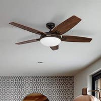 Honeywell Carmel Oil-rubbed Bronze 48-inch Ceiling Fan with Integrated Light and Remote