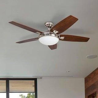 """Link to 48"""" Honeywell Carmel Brushed Nickel Ceiling Fan with Integrated Light and Remote Similar Items in Ceiling Fans"""