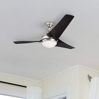 "54"" Honeywell Rio Brushed Nickel 3 Blade Ceiling Fan with Integrated Light and Remote"