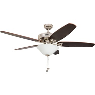 "52"" Honeywell Belmar Brushed Nickel Ceiling Fan with Bowl Light"