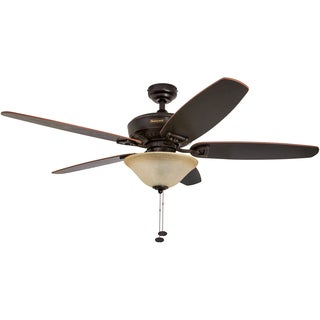 "52"" Honeywell Belmar Oil Rubbed Bronze Ceiling Fan with Bowl Light"