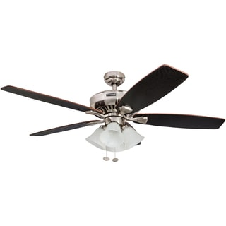 "52"" Honeywell Birnham Brushed Nickel Ceiling Fan with 4 Light"