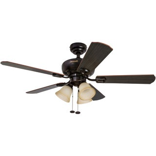 """44"""" Honeywell Springhill Oil Rubbed Bronze Ceiling Fan with 3 Light"""