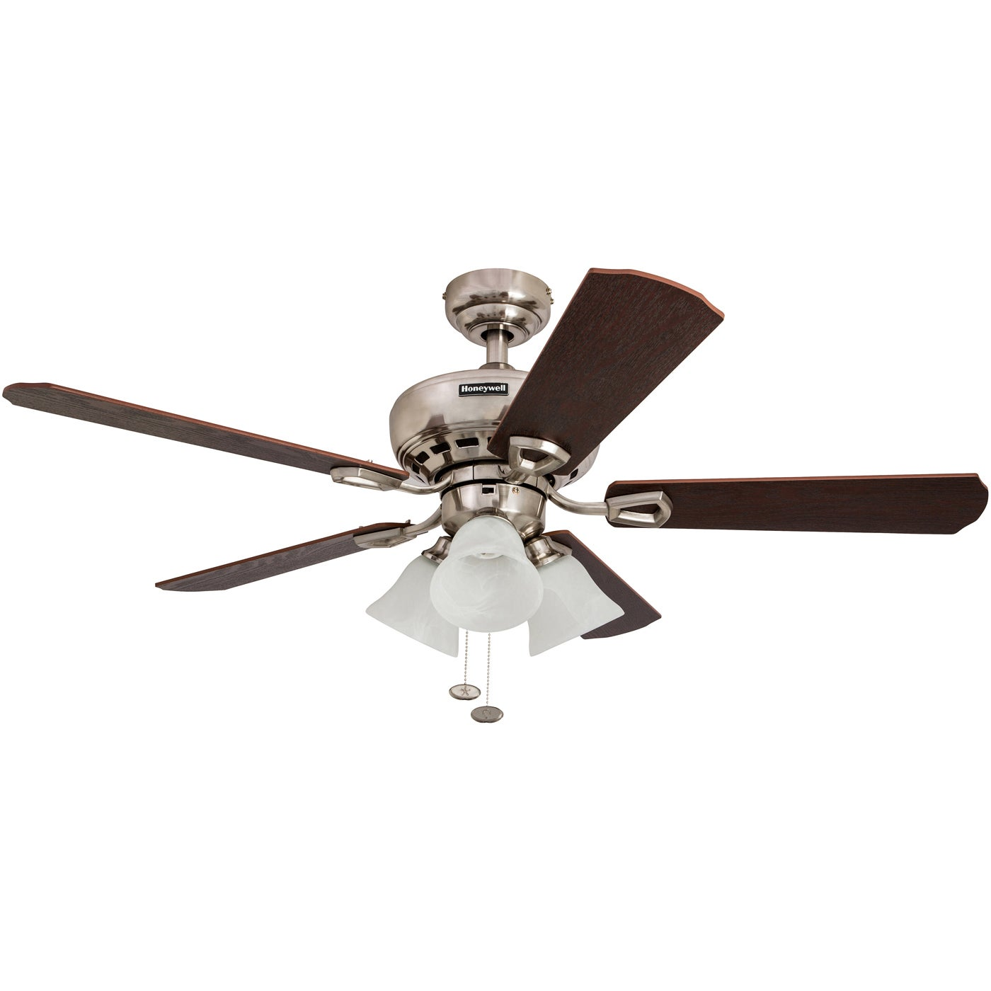 Shop Black Friday Deals On 44 Honeywell Springhill Brushed Nickel Ceiling Fan With 3 Light Overstock 16000079