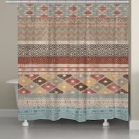 Laural Home Southwestern Multi Pattern Shower Curtain