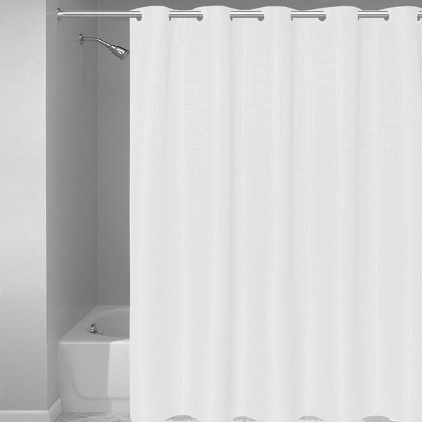 51365e42a44 Shop EZ-ON Waffle Weave Fabric Shower Curtain with Snap Off Liner ...
