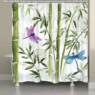 Laural Home Dragonfly Dreams Shower Curtain