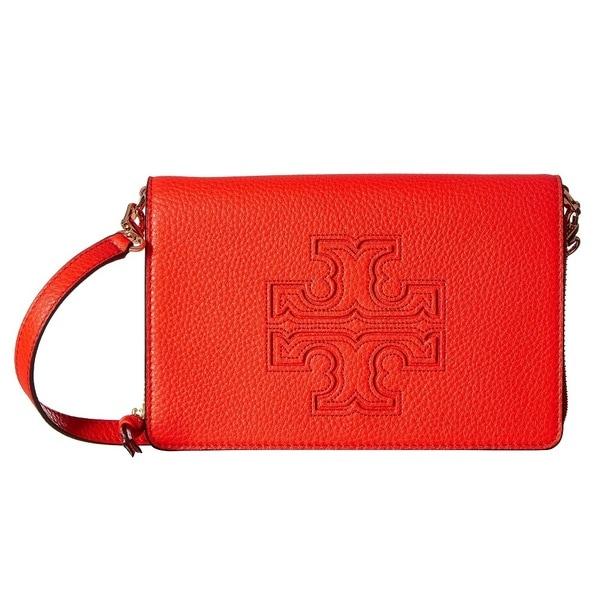 54eb0839ee3 Shop Tory Burch Harper Samba Flat Wallet Crossbody Bag - Free ...