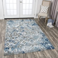 Hand-Tufted Zingaro Grey Wool Distress Area Rug - 3' x 5'