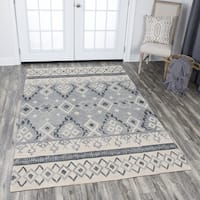 Shop Hand Tufted Opulent Natural Wool Tribal Motif Area