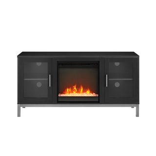 52-inch Modern Fireplace TV Stand with Metal Legs