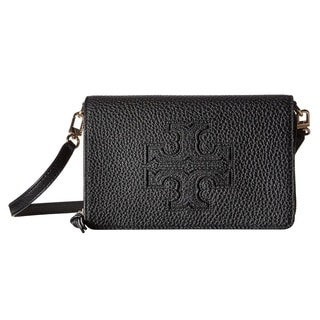 Tory Burch Harper Black Flat Wallet Crossbody Bag