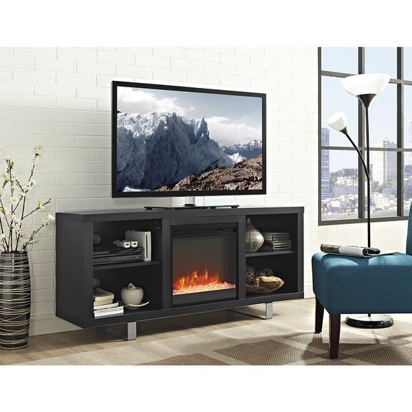 58 Inch Simple Modern Fireplace Tv Stand Free Shipping