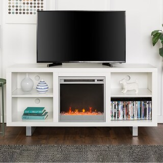 58-inch Simple Modern Fireplace TV Stand (2 options available)