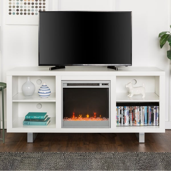 Shop 58 Inch Simple Modern Fireplace Tv Stand Free