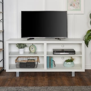 """58"""" Simple Modern TV Console with Metal Legs"""