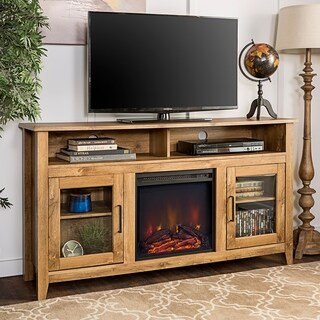 """58"""" Highboy Fireplace TV Stand Console - 58 x 16 x 32h"""