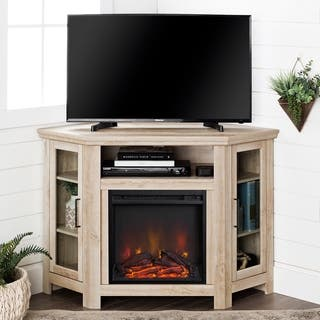 Shop 48 Corner Fireplace Tv Stand Console Espresso 48 X 20 X