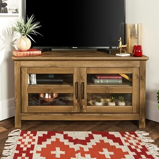 44-inch Wood Corner TV Stand - Barnwood