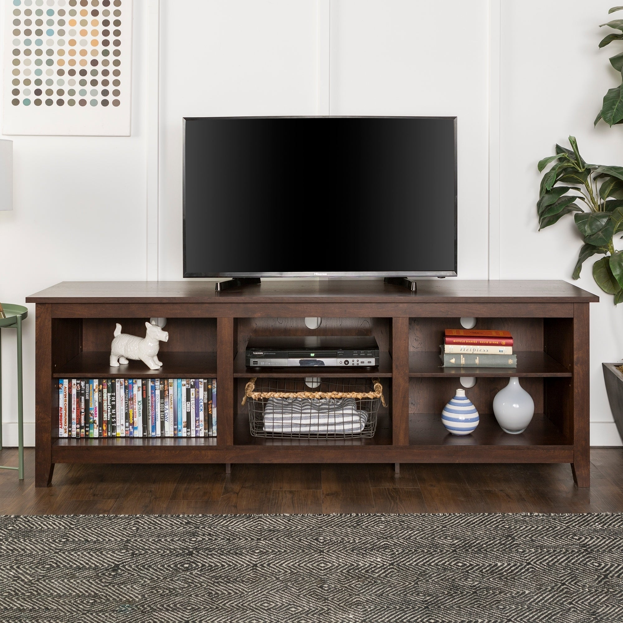 Porch Den Dexter 70 Inch Wood Media Tv Stand 887178417652 Ebay