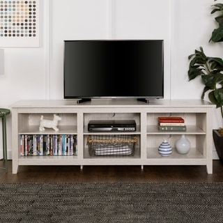 Havenside Home Jacksonville 70 Inch Wood Media TV Stand And Storage Console