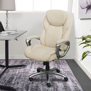 Serta Serta My Fit Executive Office Chair With Active Lumbar Support Ivory From Overstock Com Daily Mail