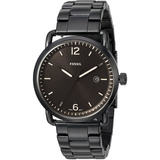 Fossil Men's FS5277 'The Commuter' Black Stainless Steel Watch