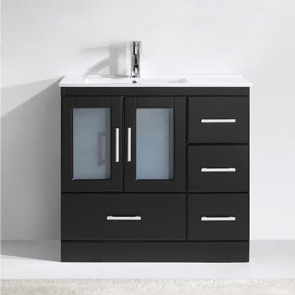 Zola 36-in Ceramic Single Bathroom Vanity Set with No Mirror
