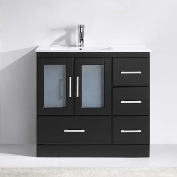 Zola 36 In Ceramic Single Bathroom Vanity Set With No Mirror On Sale Overstock 16000317