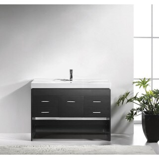 Virtu USA Gloria 48-inch Ceramic Single Bathroom Vanity Set with Top Options and without Mirror