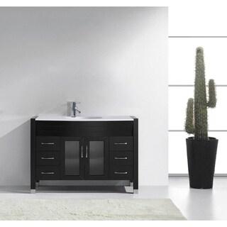 Ava 48-inch Single Bathroom Vanity White Stone Faucet Option