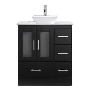 Captivating Virtu USA Zola 30 Inch Stone Single Bathroom Vanity Set With No Mirror