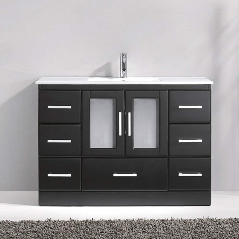 48 inch mirror 42 inch virtuusazola48inchceramicsinglebathroom virtu usa zola 48inch ceramic single bathroom vanity set with no