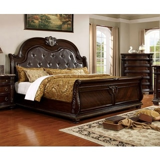 Fromberg Wood Faux Leather Upholstered Panel Bed