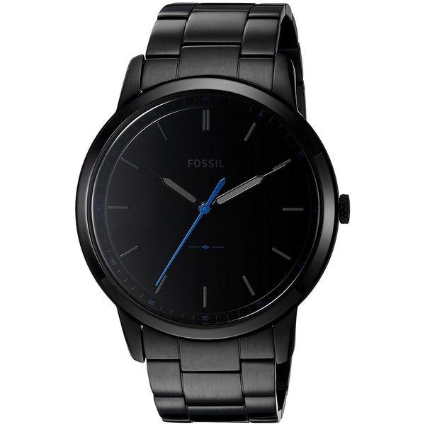 Fossil Men's FS5308 'The Minimalist' Black Stainless Steel Watch