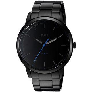 Fossil Men's FS5308 'The Minimalist' Black Stainless Steel Watch