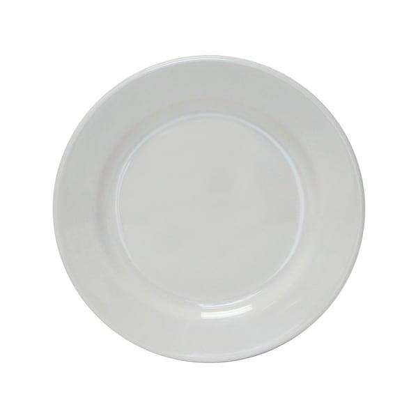 "Tuxton Home Alaska Wide Rim Salad Plate 7 1/2"" Porcelain White - Set of 4"