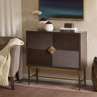 Link to Madison Park Betsy Morrocco/ Antique Bronze 2 Drawer Chest Similar Items in Living Room Furniture