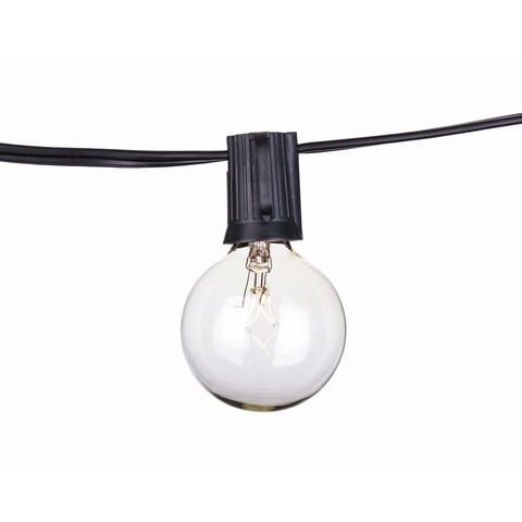 Porch & Den Ericsson Longfellow Outdoor Black/Clear Commercial C9 18 AWG Gauge 50-foot Strand of 50 Lights