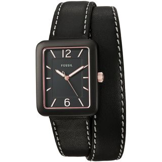 Fossil Women's ES4193 'Atwater' Black Leather Watch