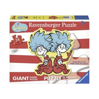 Dr. Seuss Thing 1 & 2 Giant Shaped Floor Puzzle: 24 Pcs