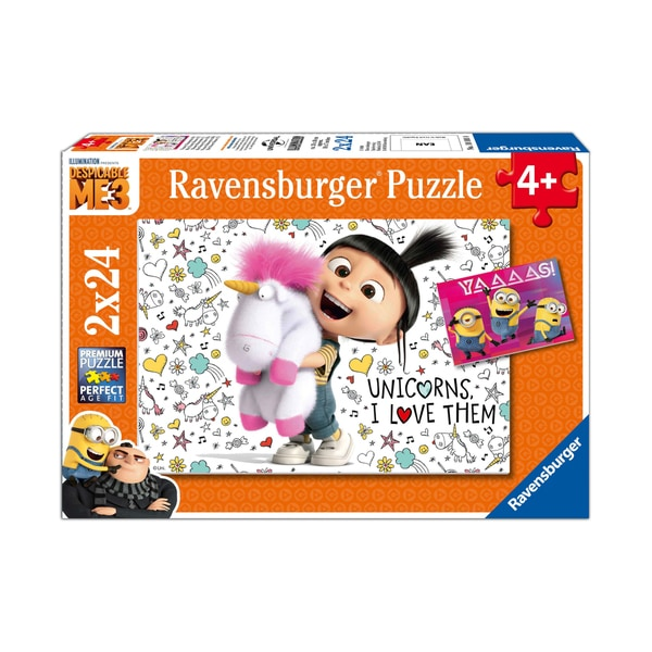 Despicable Me 3 2-in-1 Jigsaw Puzzle Multi-Pack - Agnes and the Minions: 2 x 24 Pcs