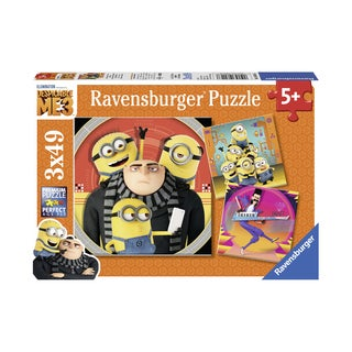 Despicable Me 3 3-in-1 Jigsaw Puzzle Multi-Pack - Minion Chaos: 3 x 49 Pcs