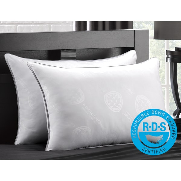 MicronOne White Down Firm Pillow (Set of 2)