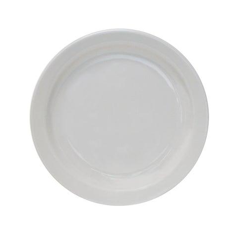 "Tuxton Home Colorado Narrow Rim Salad Plate 7-1/2"" Porcelain White - Set of 4"